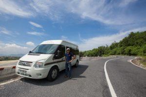 Limousine Dcar at Hai Van pass