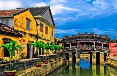 Hoi An old town from Chan May port